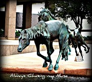 Horse Images Framed Prints - Las Colinas Mustangs 6 Framed Print by Jennifer Hamrick