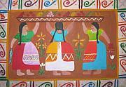 Las Comadres Print by Sonia Flores Ruiz