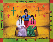 Chicana Mixed Media - Las Fridas by Sonia Flores Ruiz