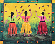Chicana Mixed Media - Las Monarcas by Sonia Flores Ruiz