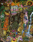 Ayahuasca Art Paintings - Las Nalpeas del Renaco  by Pablo Amaringo