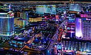 Las Vegas Prints - Las Vegas at Night Print by Jack Schultz