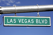 The Strip Framed Prints - Las Vegas Boulevard Street Sign - The Strip Framed Print by Hisham Ibrahim