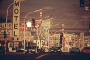 Railroads Photo Metal Prints - Las Vegas Commercial Street Metal Print by Everett