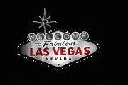 Flashing Photo Prints - Las Vegas Print by Ivan SABO