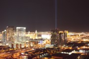 Skylines Photo Originals - Las Vegas Lights by Charles Yellowfeather