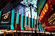 Fremont Street Framed Prints - Las Vegas Lights II Framed Print by Susanne Van Hulst