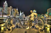 Nba Digital Art - Las Vegas by Nicholas  Grunas