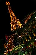 Eifel-tower Posters - Las Vegas Nights Poster by Lone  Dakota Photography