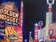 Fremont Street Framed Prints - Las Vegas Strip Framed Print by Mitchell McClenney