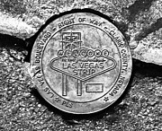 Las Vegas Sign Prints - Las Vegas Strip Street Medallion Print by David Lee Thompson
