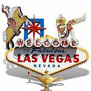 Las Vegas Mixed Media Posters - Las Vegas Symbolic Sign on White Poster by Gravityx Designs