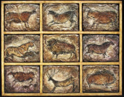 Rock Reliefs Originals - Lascaux by Denise Faucher