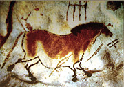 Rock Art Mixed Media - Lascaux Horse - version 2 by Asok Mukhopadhyay