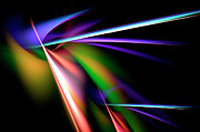 Radiating Digital Art - Laser Light Show by Carolyn Marshall