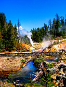 Creek Art - Lassen Volcanic National Park Devils Kitchen by Scott McGuire
