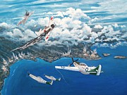 Plane Paintings - Last Ace of World War II by Dennis D Vebert