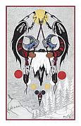 First Nations Prints - Last Buffalo Hunt Print by Richard Masuskapoe
