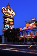 The Strip Photo Framed Prints - Last Call For The Sahara Framed Print by James Marvin Phelps