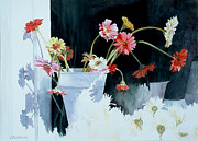 Gerbera Daisy Paintings - Last Chance by Cris Weatherby