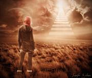 Stairs Digital Art - Last Climb by Jennifer Gelinas