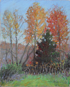 Autumn Foliage Pastels Prints - Last Dance Print by Julie Mayser