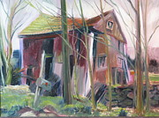 Dilapidated Farm Originals - Last Gasp of the Barn by Sid Solomon
