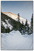 Mountain In Snow Posters - Last Glance At The Mountain Poster by Lisa  Spencer