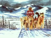 Iditarod Paintings - Last Hill by Bob Patterson