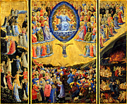 Judgment Paintings - Last Judgment Winged Altar  by Fra Angelico