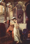 Hayez Paintings - Last Kiss of Romeo and Juliet by Pg Reproductions