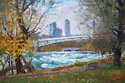Falls Paintings - Last Leaves  by Ylli Haruni