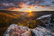 Fall Prints Prints - Last Light at Lindy Point Print by Joseph Rossbach