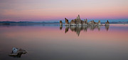 Mono Color Posters - Last light at Mono Lake Poster by Keith Kapple