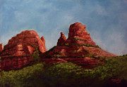 University Of Arizona Pastels - Last Light in Sedona by Marcus Moller