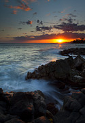 Poipu Photos - Last Light over Paradise by Mike  Dawson