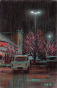 Night Pastels Metal Prints - Last Minute Shopping Metal Print by Donald Maier