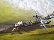 Mustang Aviation Art Paintings - Last Plane by Dennis Vebert