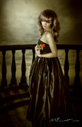 Photomanipulation Prints - Last Red Rose Print by Svetlana Sewell