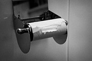 Unfair Framed Prints - Last Remaining Sheet Of Toilet Paper On A Toilet Roll Holder Framed Print by Joe Fox