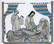 Clergyman Photos - Last Rites, Middle Ages by Science Source