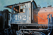Locomotive Paintings - Last Stop by Chris Steinken