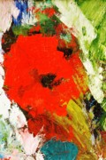 Sunshine Paintings - Last Summers Poppy by Geegee W