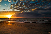 Beach Photography Art - Last Sun by Chuck Alaimo