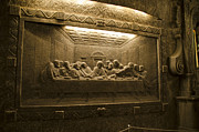 Last Supper Photo Posters - Last Supper - Wieliczka Salt Mine Poster by Jon Berghoff
