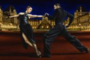 Black Dress Metal Prints - Last Tango in Paris Metal Print by Richard Young