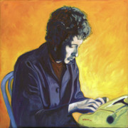 Bob Dylan Paintings - Last Thoughts on Woody Guthrie by Natasha Laurence