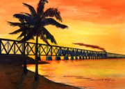 Bahia Honda Posters - Last Train To Paradise Poster by CB Woodling