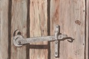 Rusty Drawings - Latch by Pat Price