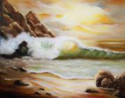 Late Afternoon Beach Print by Joni M McPherson